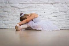Liten gullig ballerina ballerina Arkivfoton