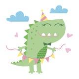 Liten gullig dinosaurieillustration Royaltyfri Fotografi