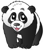 liten gullig panda Arkivbild