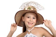 liten härlig flicka arkivfoto