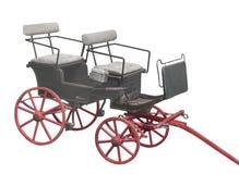 Liten häst dragen barnvagn Arkivbilder