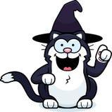 Liten häxa Cat Idea för tecknad film royaltyfri foto