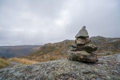 Liten hög av allsidiga stenar på monteringen Ulriken Royaltyfria Foton