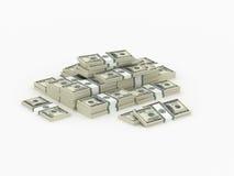 Liten hög av pengarpackar Fotografering för Bildbyråer