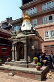 Liten hinduisk tempel i Patan Royaltyfria Foton