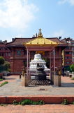 Liten hinduisk tempel i Patan Arkivfoto