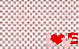 Liten hjärtamodell med `en för ord`-FÖRÄLSKELSE, Royaltyfria Bilder