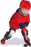 Liten hockeyspelare Arkivfoto