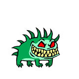 Liten hund från helvete också vektor för coreldrawillustration royaltyfri illustrationer