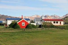 Liten icelandic by arkivfoton