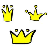 Liten illustration för prinsessakronavektor royaltyfri illustrationer