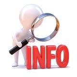 liten information om person 3d Arkivfoto