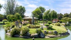 Liten Japan ö på den LaSerena staden, Chile royaltyfri fotografi
