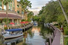 Liten kanal i Fort Lauderdale Arkivbild
