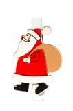 Liten klädnypa med en Santa Claus, julmotiv, närbild Royaltyfri Fotografi