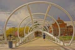 Liten konstnärlig bro Arkivfoton