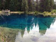 Liten krater sjö Fotografering för Bildbyråer