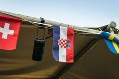 Liten kroatisk flagga royaltyfri fotografi