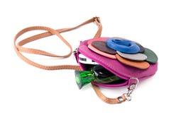 Liten kvinna handväska Royaltyfria Bilder