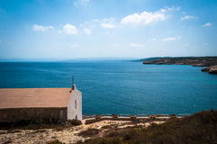 Liten kyrka av balaien - sardinia Royaltyfria Foton