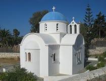 Liten kyrka i Paros Arkivbilder
