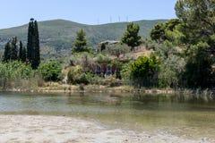 Liten lagun i Grekland 3 Arkivfoto