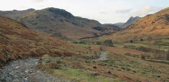 Liten Langdale dal Cumbria Arkivbilder