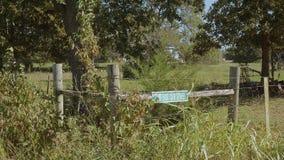Liten lantgård på Route 66 i Oklahoma arkivfilmer