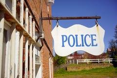 Liten lantlig stad Amerika för polisentecken Royaltyfria Foton