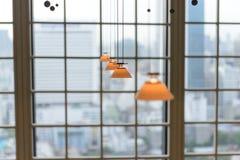 Liten LEDD hängning för lampSOLljus arkivfoton