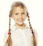 Liten lycklig flicka med stort leende Royaltyfria Foton