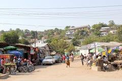 Liten marknad i Mwanza Tanzania Fotografering för Bildbyråer