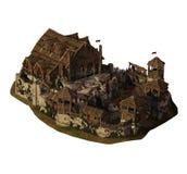 Liten medeltida slott Arkivbilder