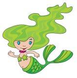 liten mermaid royaltyfri illustrationer