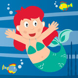 liten mermaid Royaltyfri Foto