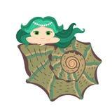 liten mermaid Vektor Illustrationer