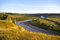 Liten Missouri flod Arkivfoton