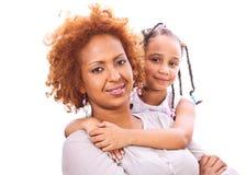 liten moder för afrikansk flicka Royaltyfria Bilder