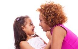 liten moder för afrikansk flicka Arkivbild