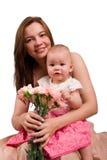 liten moder för dotter Royaltyfria Foton