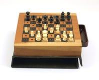 liten modig gammal set för schack Arkivfoto