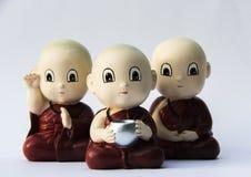 Liten munkleraskulptur Arkivbild