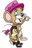Liten mus och syrsa stock illustrationer