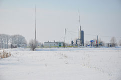 Liten naturgasväxt i Sibirien Låg naturgaspriser och tillväxt i naturgaskraftgenereringinfrastruktur Arkivfoton