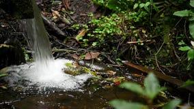 Liten nedgång av vatten i en ström lager videofilmer