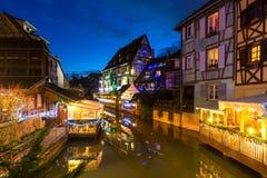 Liten och nätt Venise, Colmar, Frankrike, Europa Arkivbild