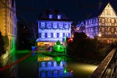 Liten och nätt Venise, Colmar, Frankrike, Europa Royaltyfria Bilder