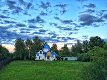 Liten ortodox kyrka Turovo Ryssland Royaltyfria Bilder