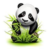 Liten panda vektor illustrationer