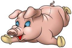 liten pig stock illustrationer
